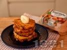 Рецепта Зеленчукови солени палачинки с картофи, тиквички и сметана